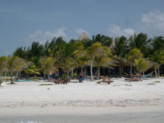 Holbox Hotel Mawimbi: The private hotel beach from the water