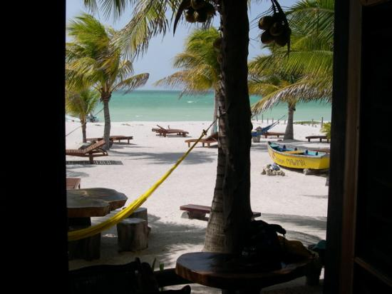 Holbox Hotel Mawimbi: View of the beach and water from inside our room