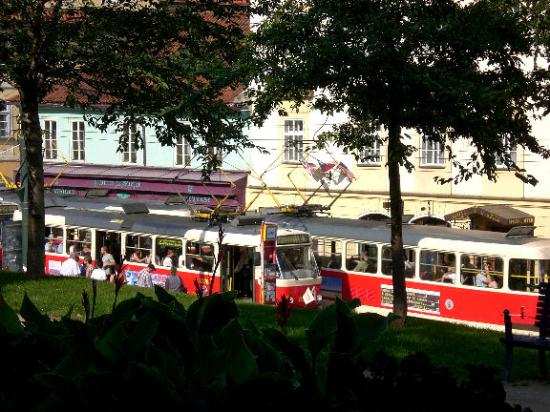 Tram stop picture of hotel mala strana prague tripadvisor for Best hotels in mala strana prague