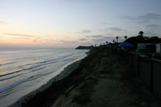 San Elijo State Beach Campground : View from campsite along bluff