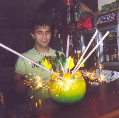 Angel's Suites Marmaris : Sercan and his amazing fishbowls