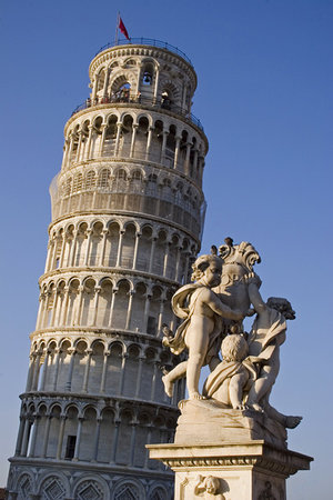Pisa, Italy: Leaning Tower and Fountain