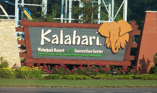 Kalahari Sign Picture Of Kalahari Resorts Amp Conventions