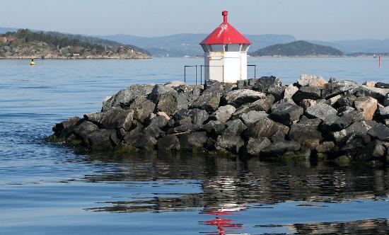 Drobak: Port lighthouse