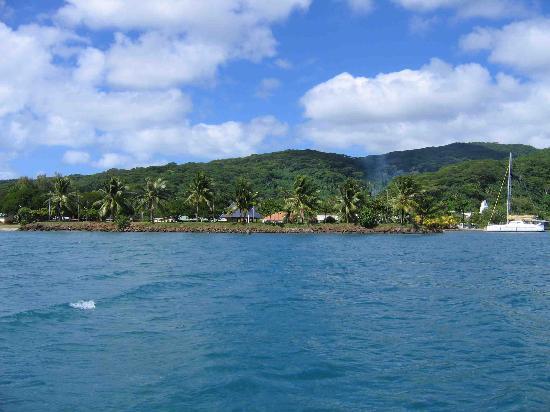 Motu Pearl Farm: Arrivée par la mer