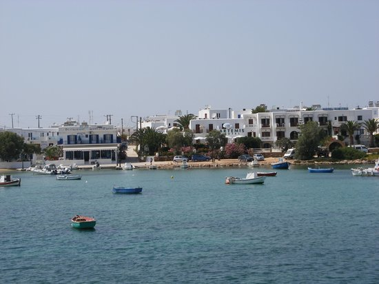 Artemis Hotel: View from across harbour