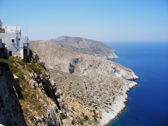 Folegandros, Greece: View from edge of village