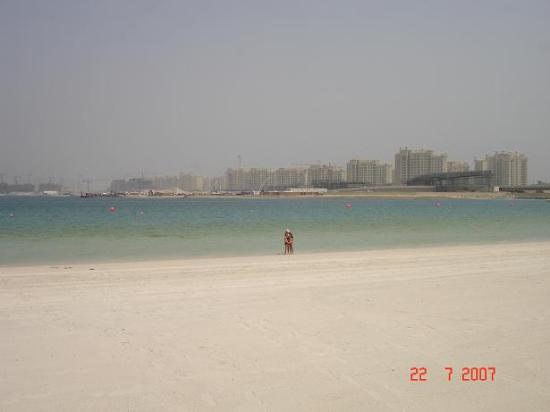 Residence & Spa at One&Only Royal Mirage Dubai: The view from the beach towards Palm Jumeirah (in all honesty: there is no noise disturbance...
