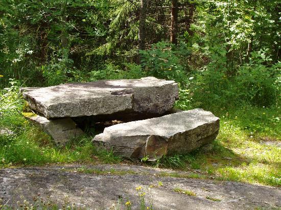 Oslomarka: Picnic site by Lake Noklevann
