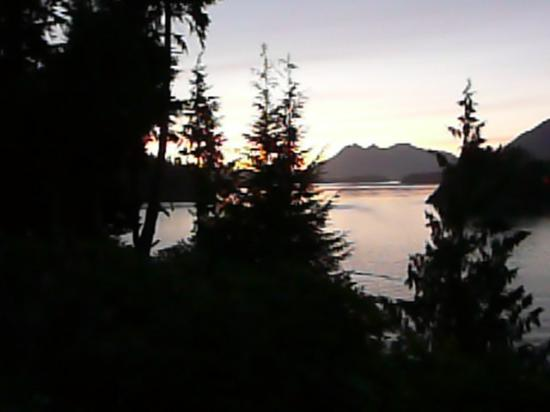 Meares Retreat Bed & Breakfast: The evening view across Duffin Cove