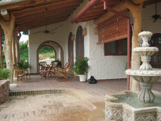 Pelican Eyes Resort & Spa: front porch of our villa that overlooks the Pacific