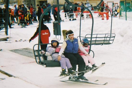 Kids' Vacation Center: Riding the lift