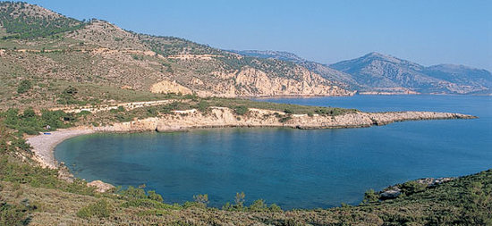 Chios stad, Grekland: Local beach