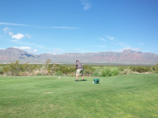 El Paso, TX: East Course Tee Box (Franklin Mountains in background)