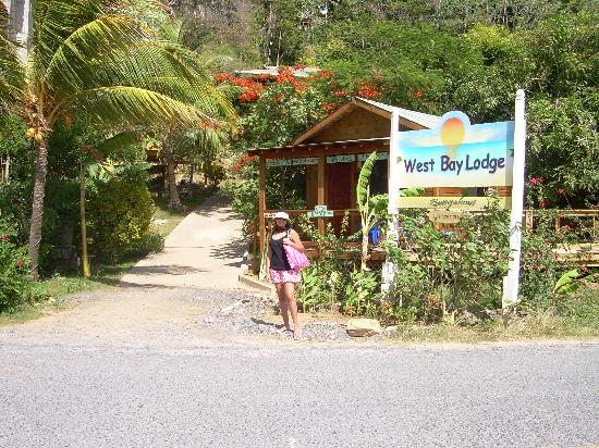 West Bay Lodge and Spa: the entrance ate the hotel