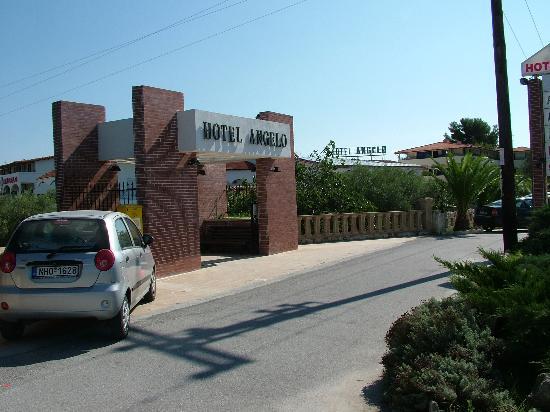 Hanioti Grand Victoria: Main road entrance