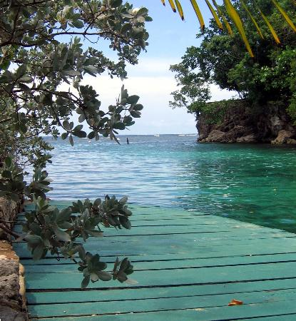 Oracabessa, Jamaica: Dock at private island