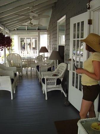 At Melissa's B&B: Front porch