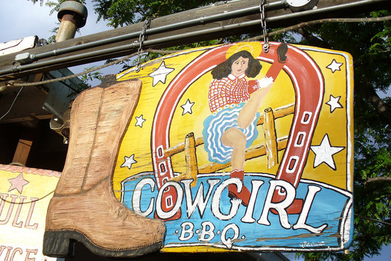 Cowgirl BBQ : Entrance Sign