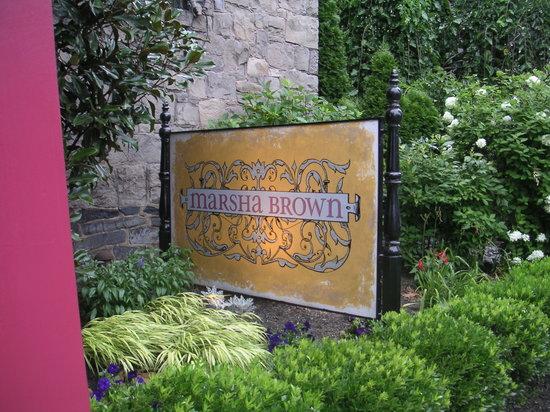 Marsha Brown's: Marsha Brown sign