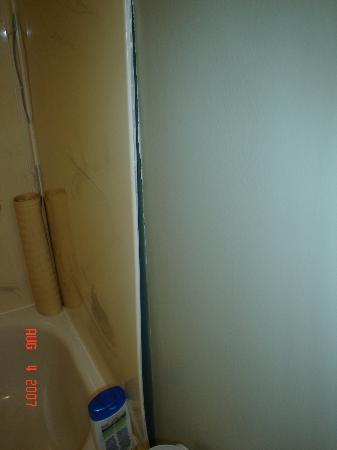 The Wilds at Salmonier River Hotel Rooms & Suites: Tub surround coming off the wall