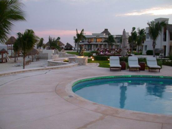 view from our patio picture of azul beach resort riviera. Black Bedroom Furniture Sets. Home Design Ideas