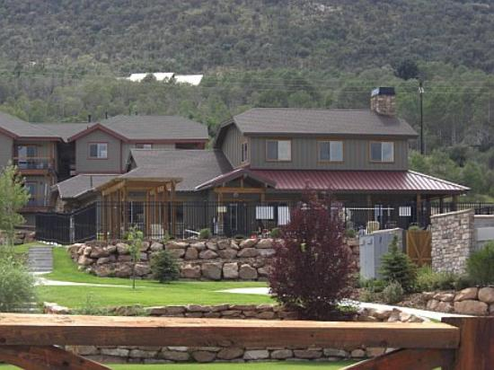 Bear Hollow Village: View of the community room and pool