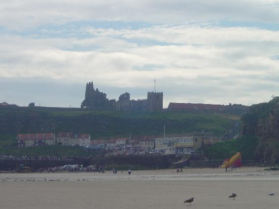 Launceston Villa Bed & Breakfast: Whitby Abbey and Church from the beach