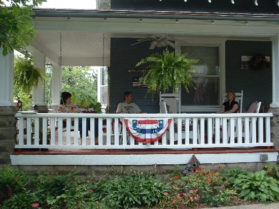 Down Over Bed & Breakfast: Relaxing on the Front Porch