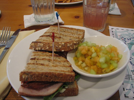 Olivia's Cafe: turkey club sandwich