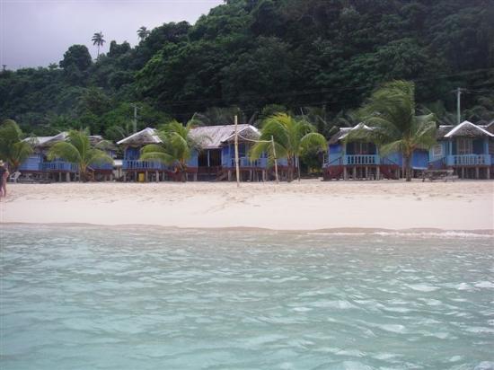 Litia Sini Beach Resort: Litia Sini beach fales from the ocean