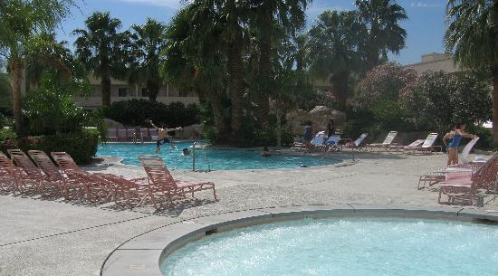 Miracle Springs Resort and Spa : Pool and one of the 7 Jacuzzis