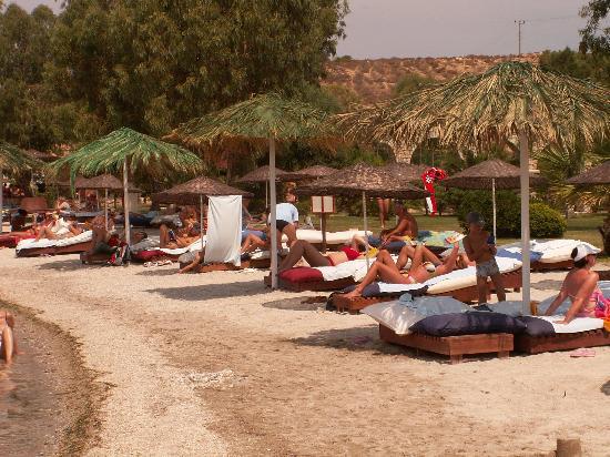 Hotel Club Phokaia: la plage de l'hôtel.