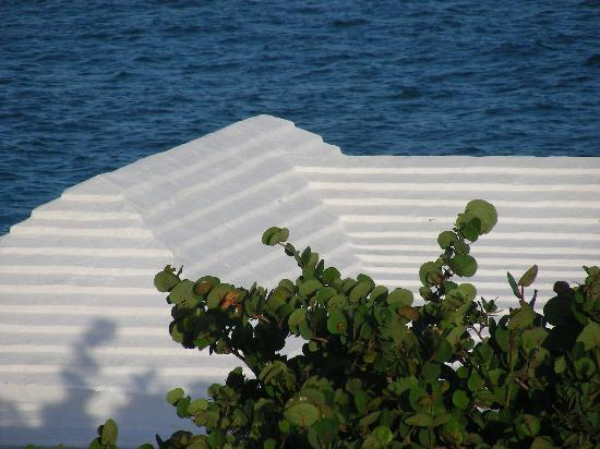 Grape Bay Beach Hotel: Typical roof in Bermuda to catch rainwater
