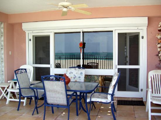 Villas on Great Bay: Front lower level patio facing the water
