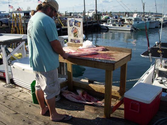 Block Island, RI: Fresh fish on Ballards dock