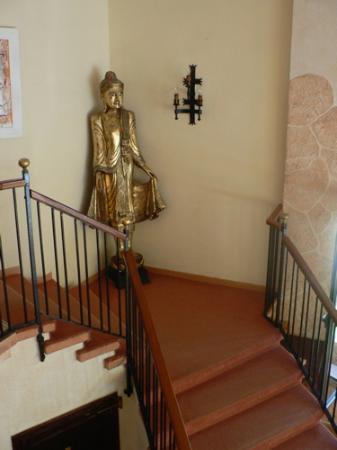 Hotel Bon Repos: escalier
