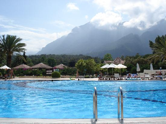 Club Med Palmiye: Main village pool view toward the mountains