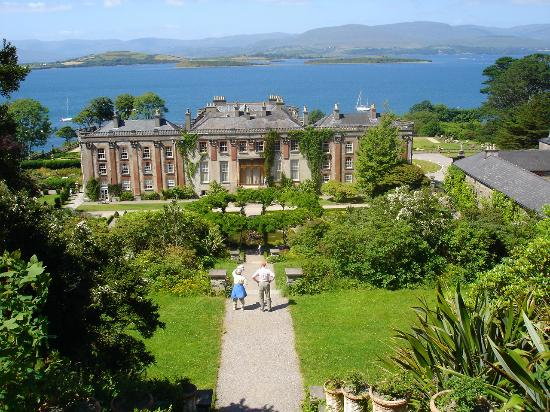 Bantry House & Garden: Bantry Bay from attop the steps behind Bantry House