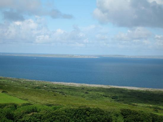 Ballinalacken Castle Country House: View of the Aran Islands from the Castle top