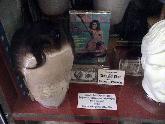 Metropolis, IL: Christopher Reeves' Wig He Wore as Superman