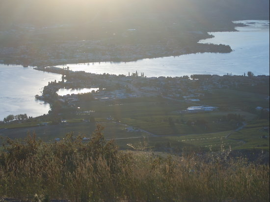 Evening view of Osoyoos from Anarchist lookout