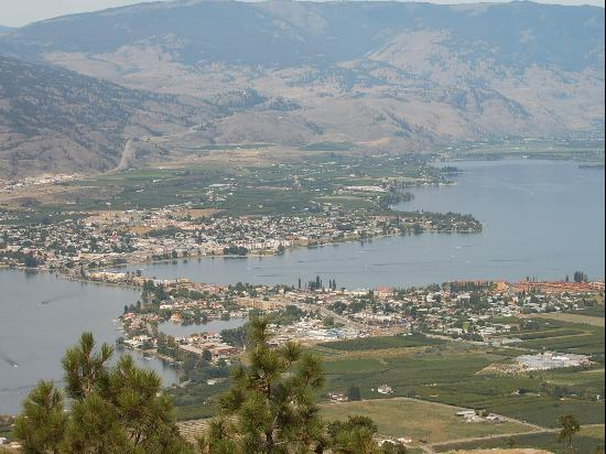 โอซอยออส, แคนาดา: Morning view of Osoyoos from Anarchist lookout