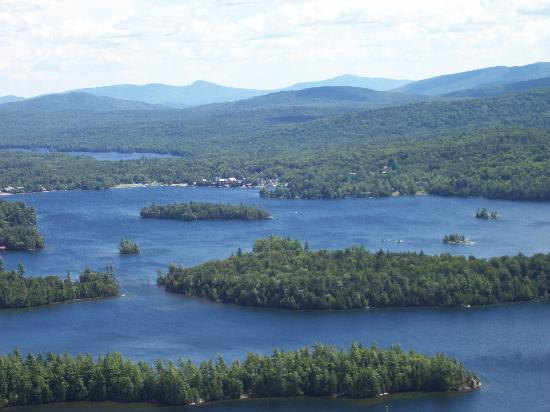 Prospect Point Cottages - Blue Mountain Lake: view from Castle Rock Mt