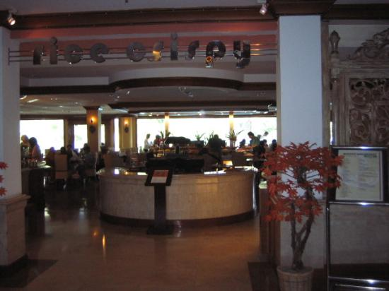 The Sunan Hotel Solo: View of Restaurant from Lobby Area