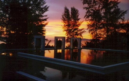 Anantara Si Kao Resort: couché de soleil