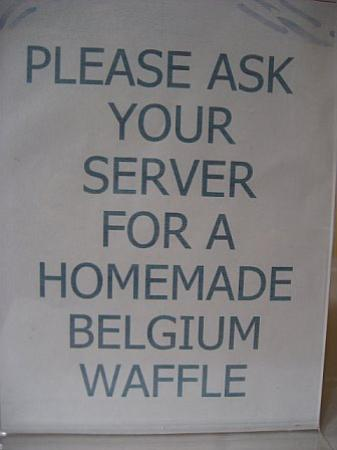 Best Western Plus Elm House Inn : waffle sign