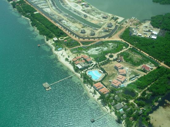 The Placencia Hotel and Residences : Aerial photo of the resort