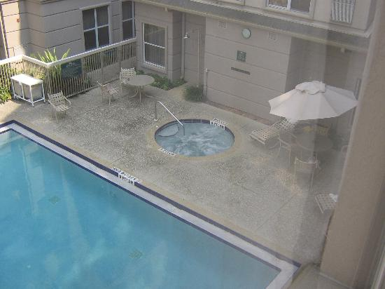 Homewood Suites Orlando-International Drive/Convention Center: view of hot tub and pool from room