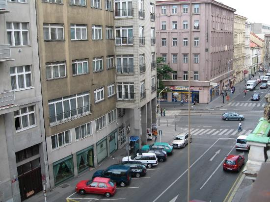 Apartment Residence Lipova: View from apartment - looking to Jecna